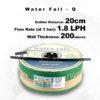 Drip Tape Water Fall-Q | 1.8 L/Hr 20cm