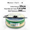 Drip Tape Water Fall-Q | 1.4 L/Hr 25cm