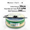 Drip Tape Water Fall-Q | 1.1 L/Hr 30cm